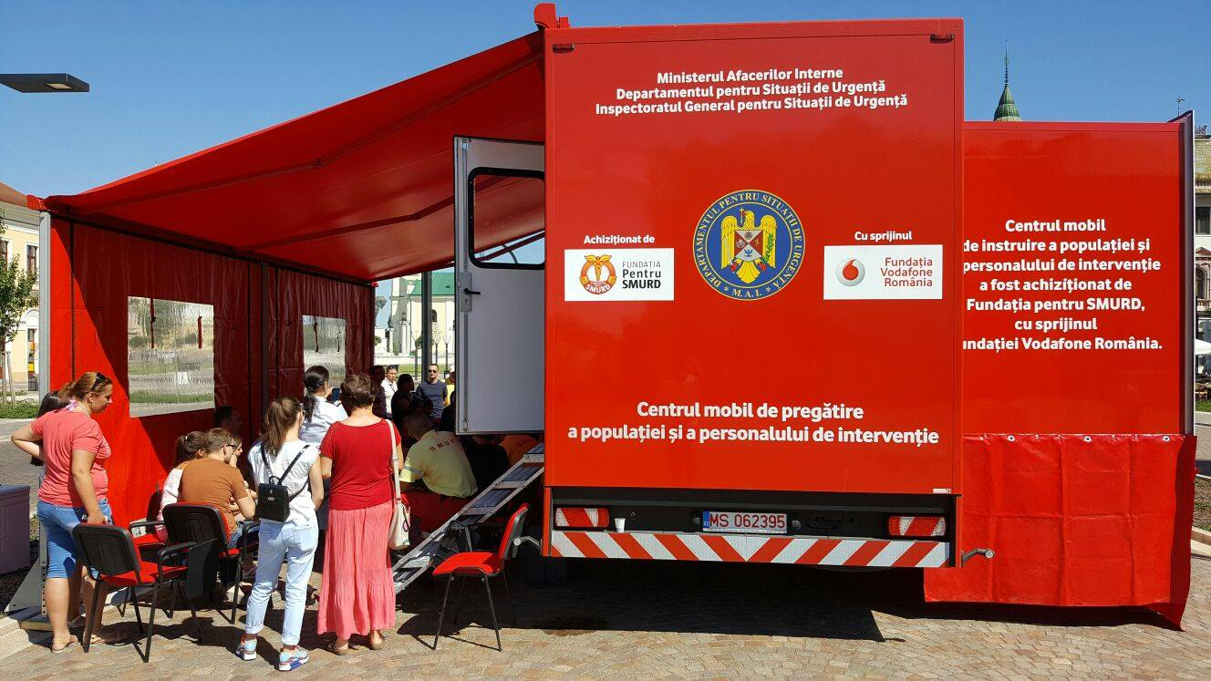 Caravana –Fii pregătit– se pune în mișcare pentru a preveni în cazul situațiilor de urgență