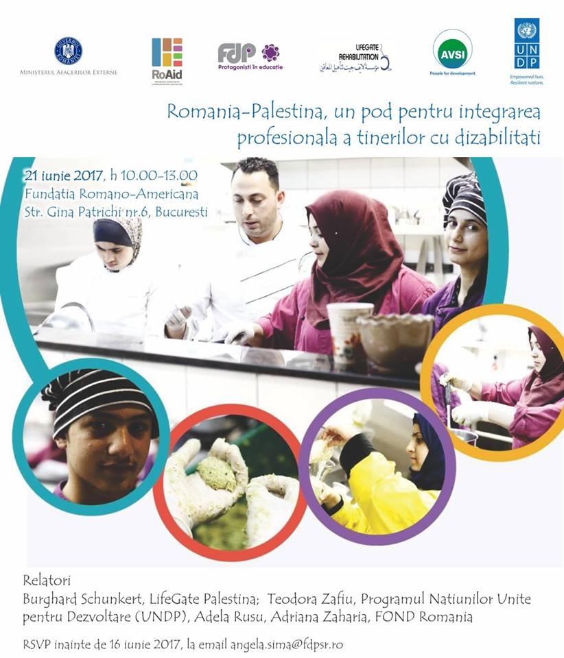 Seminar: Integrarea profesională a tinerilor cu dizabilități din Palestina. O experiență de cooperare pentru dezvoltare