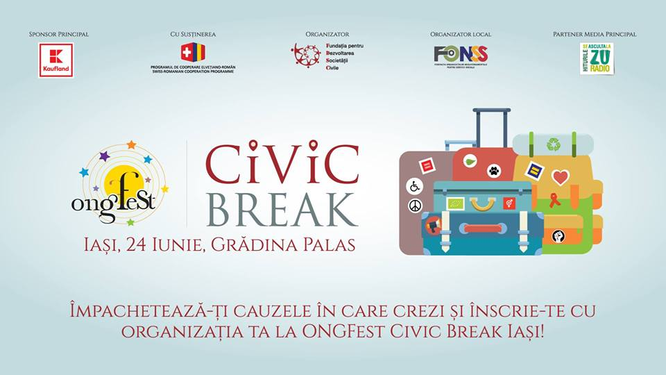Iașiul pleacă în ONGFest Civic Break!