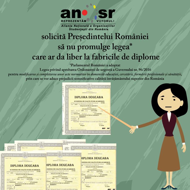 Parlamentul României dă liber fabricilor de diplome