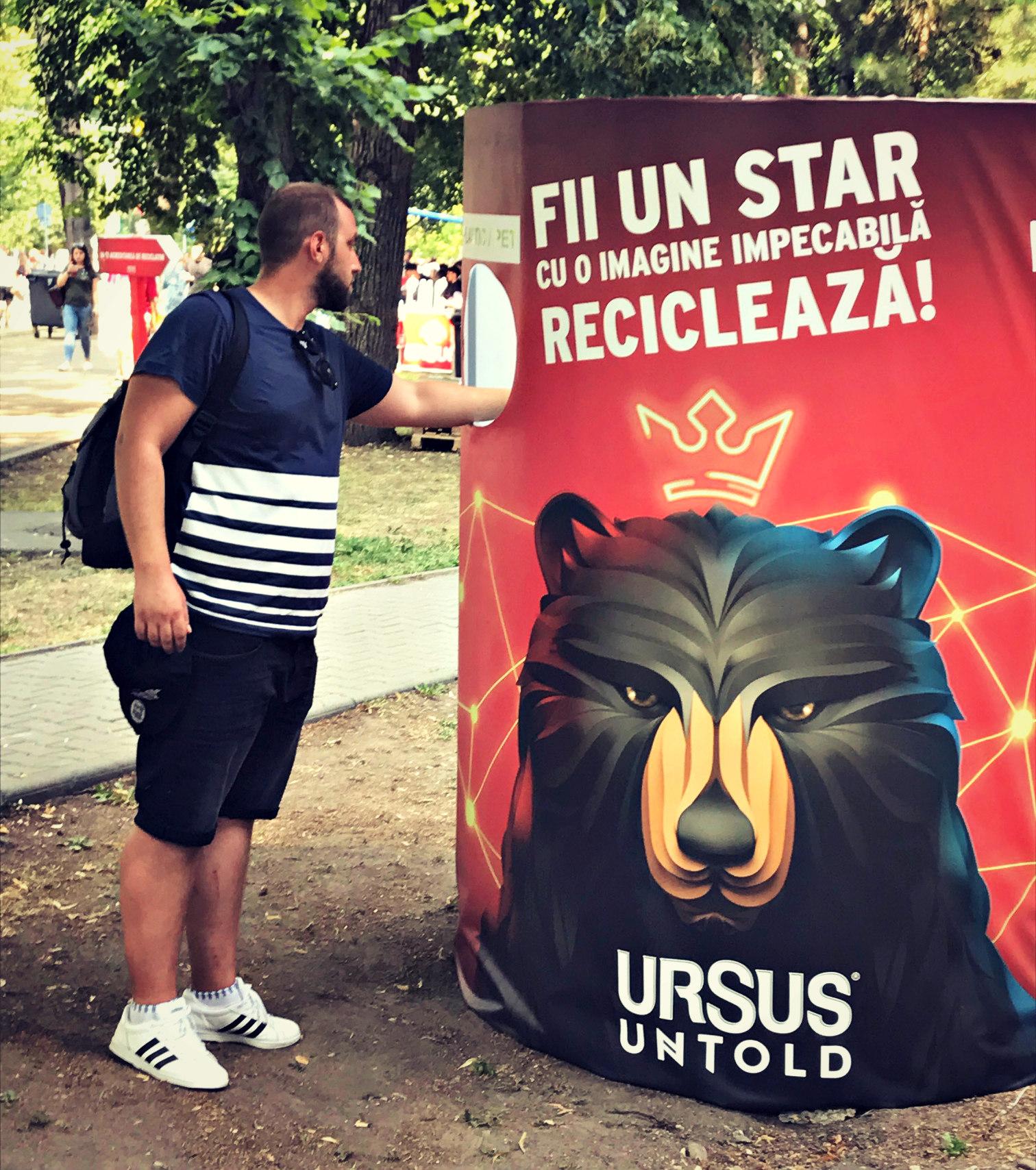 Asociația Environ și Ursus Breweries reciclează la UNTOLD