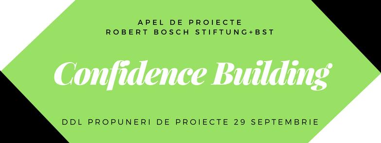 Confidence Building 2017-2018 Apel pentru propuneri de proiecte