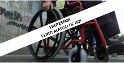 Protest pentru locuri de muncă protejate pentru persoane cu dizabilități