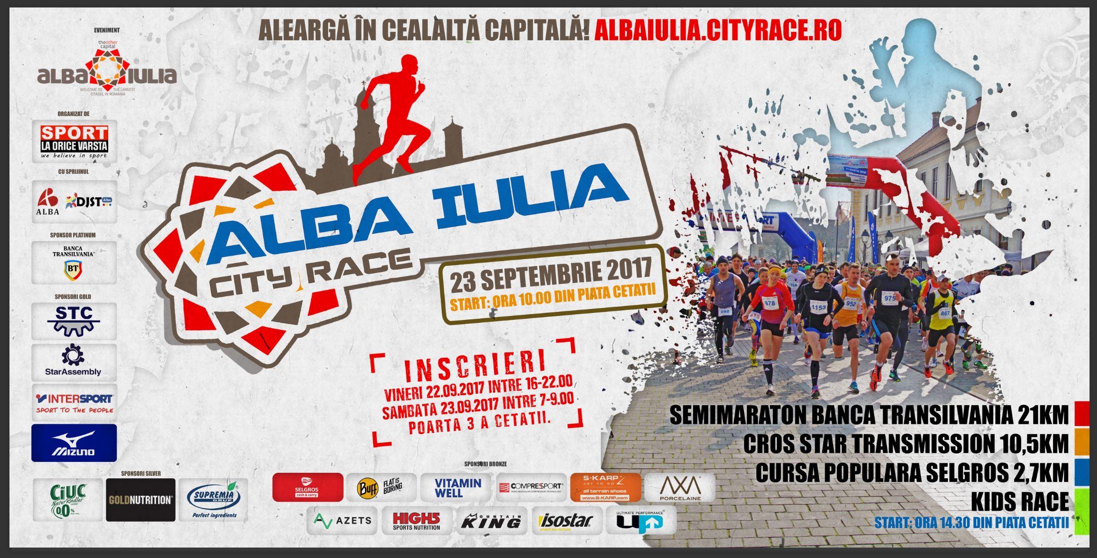 Doar până vineri te mai poți înscrie la Alba Iulia City Race!