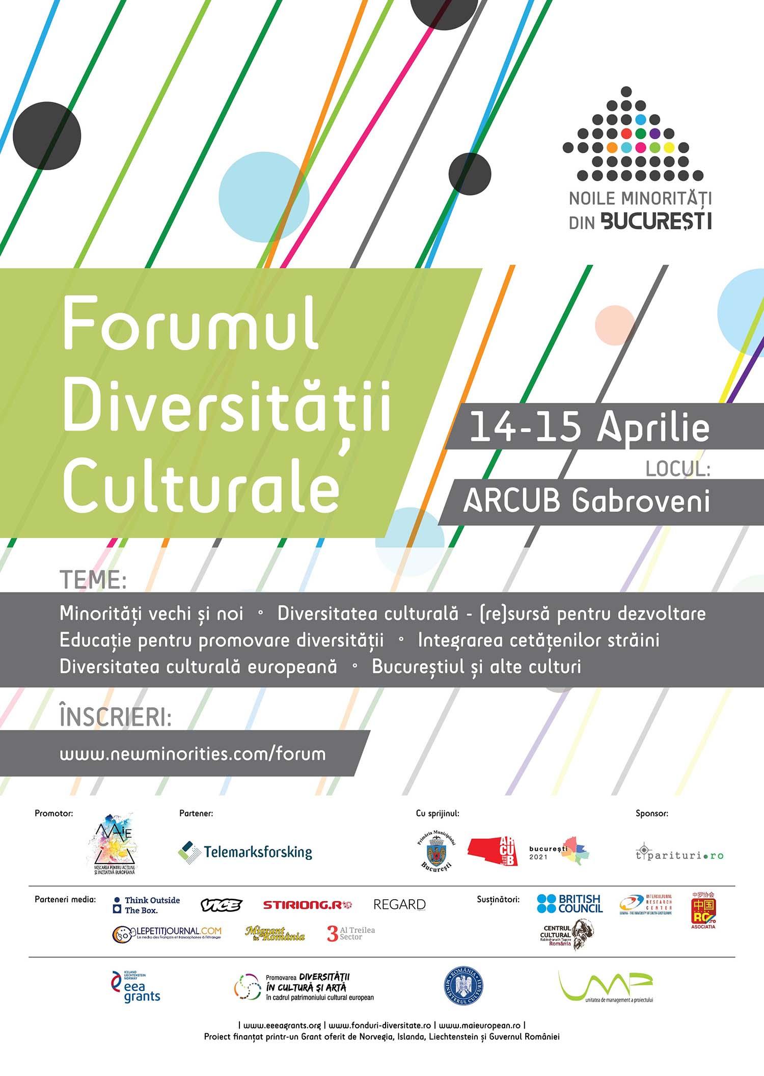 Forumul Diversitatii Culturale, 14 - 15 aprilie 2016