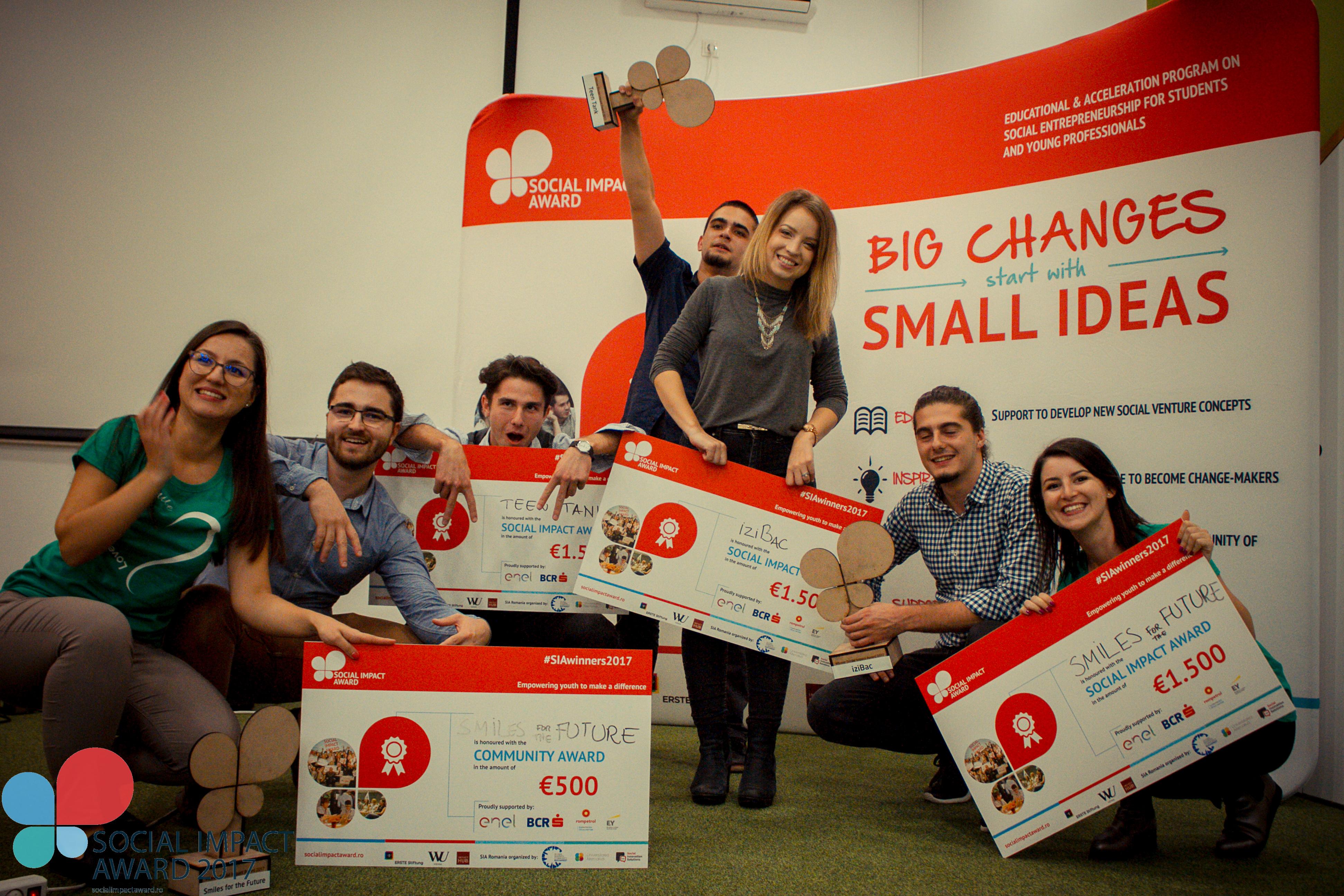 Cine sunt câștigătorii Social Impact Award România 2017?