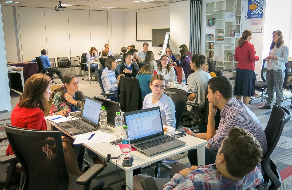 20 de angajați Allianz Technology au donat 160 de ore și expertiză pentru 4 întreprinderi sociale