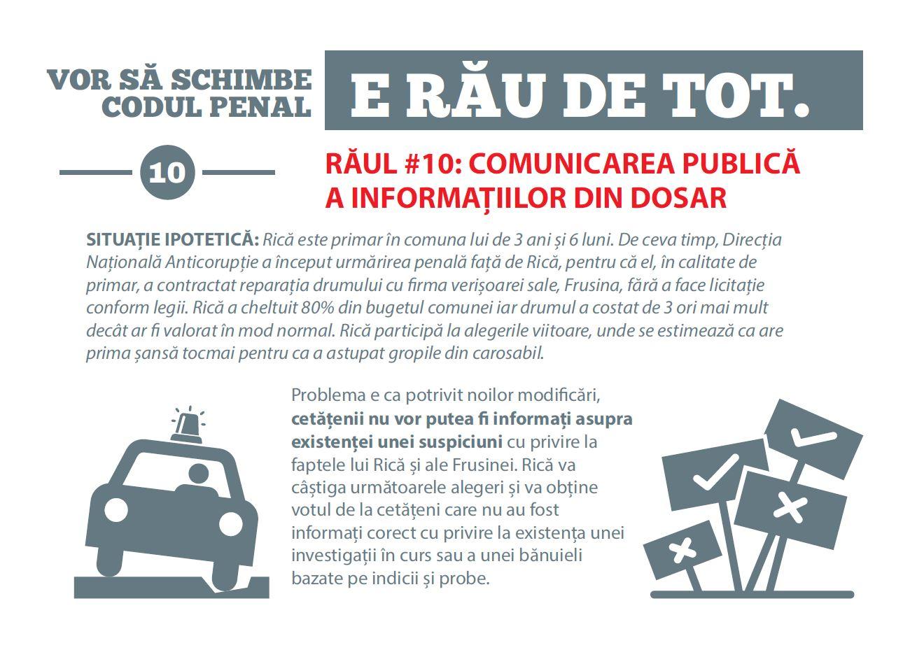 Procurorii au făcut o broșură simplă ca să te prinzi ce înseamnă modificările Codului Penal