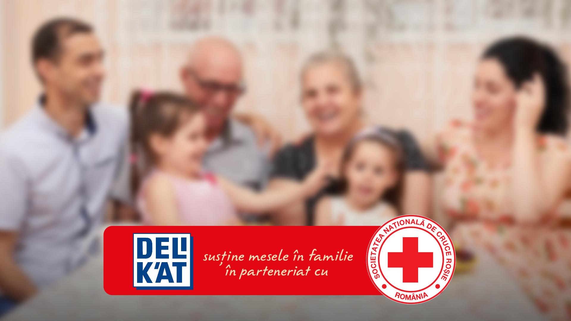 Delikat și Crucea Roșie Română susțin mesele în familie și sprijină familii vulnerabile