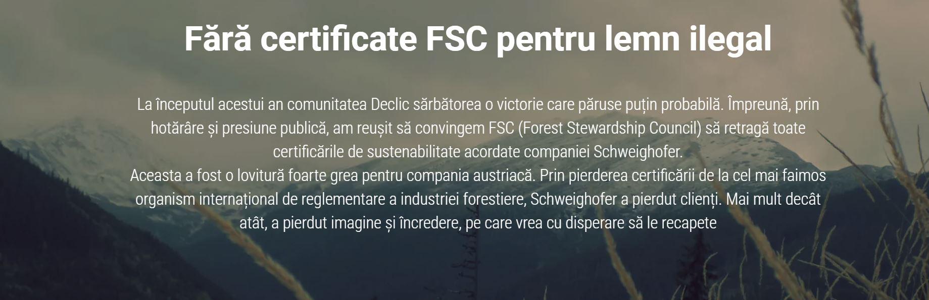 Schweighofer amenință iarăși pădurile românești