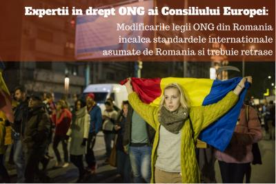 Experții in drept ONG ai Consiliul Europei critică legile ONG din Parlament