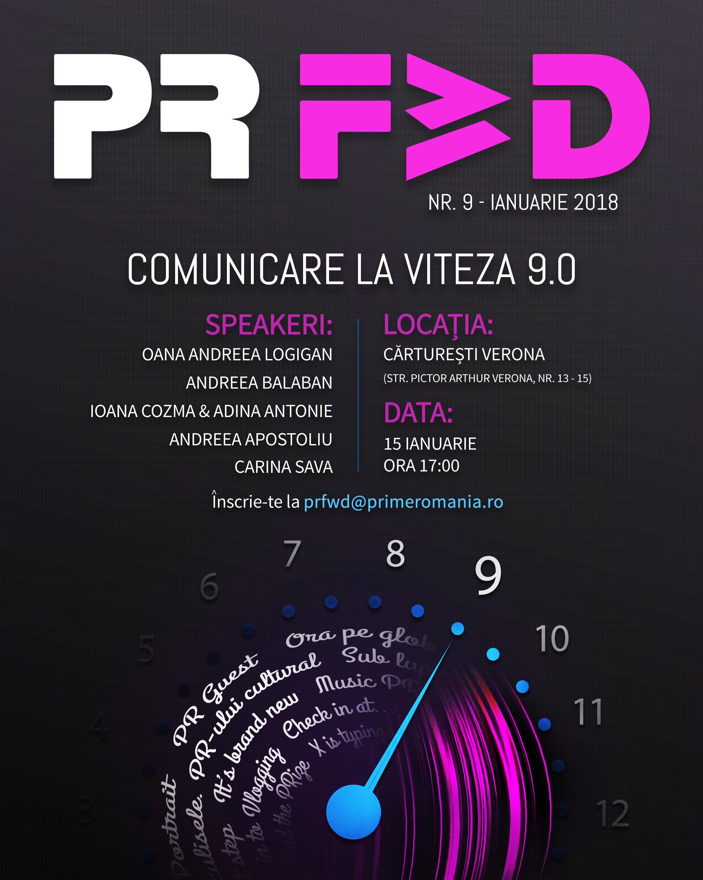 PR Forward la viteza 9.0