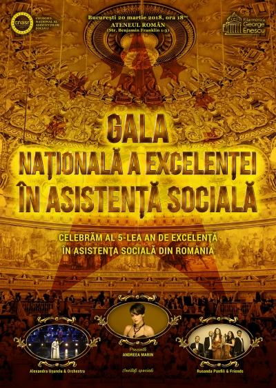 S-a dat startul înscrierilor pentru Gala Națională a Excelenței în Asistență Socială 2018