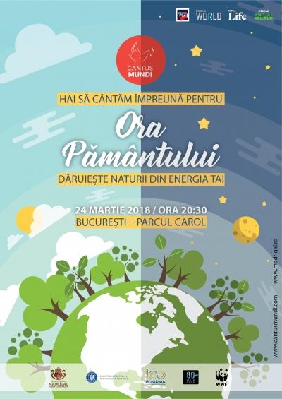 """Cantus Mundi sărbătorește """"Ora Pământului� în 50 de localități din România"""