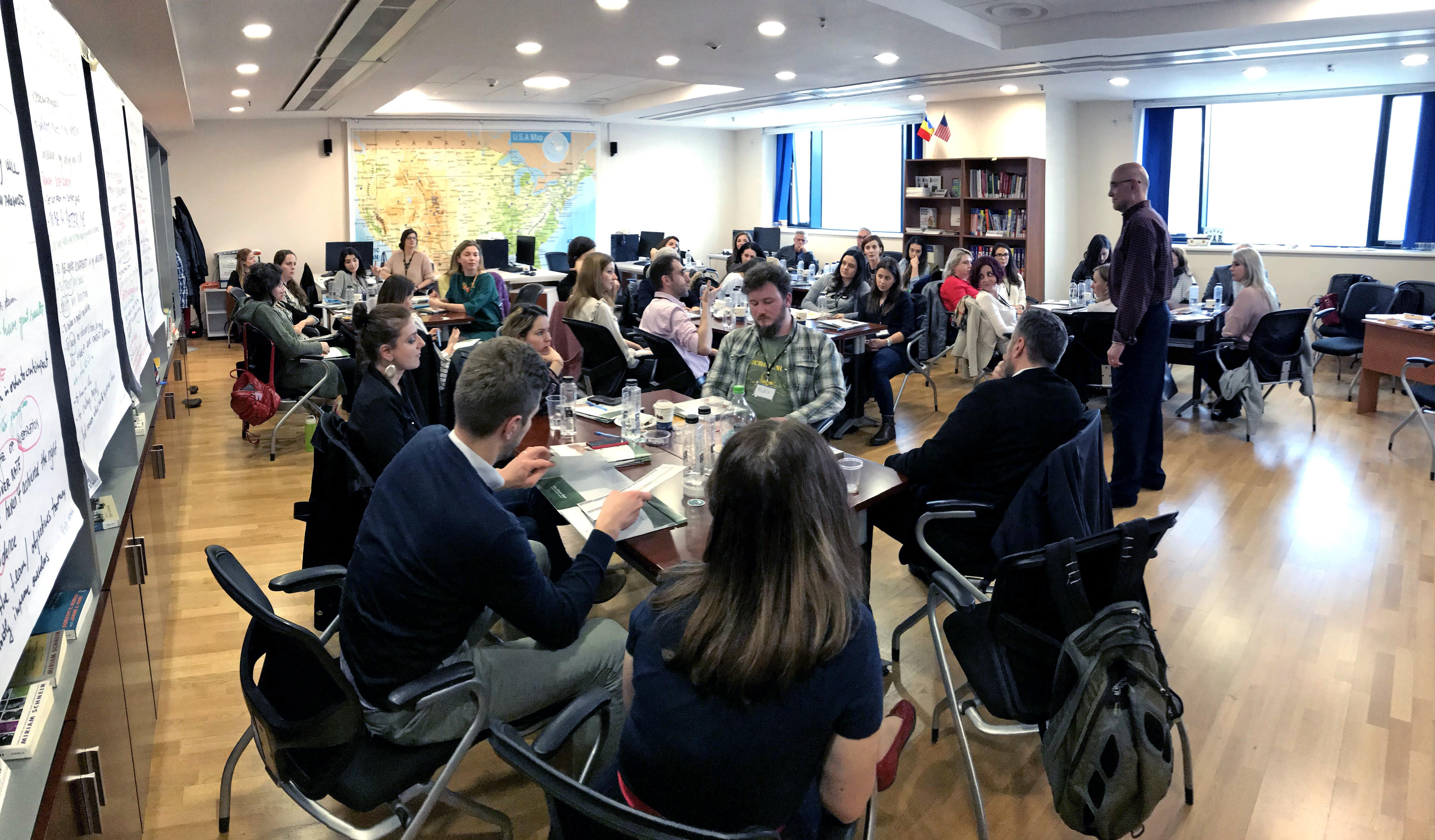 Sesiune specială de training prin metoda InsideOut Coaching™, pentru 40 de lideri ai ONG-urilor din București