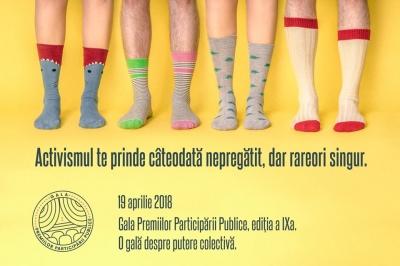 Cea de-a IX-a ediţie a Galei Premiilor Participării Publice va avea loc pe 19 aprilie