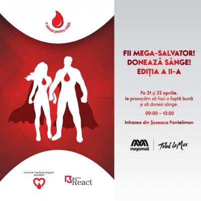 Mega Mall te invită să donezi sânge și să fii Mega-Salvator