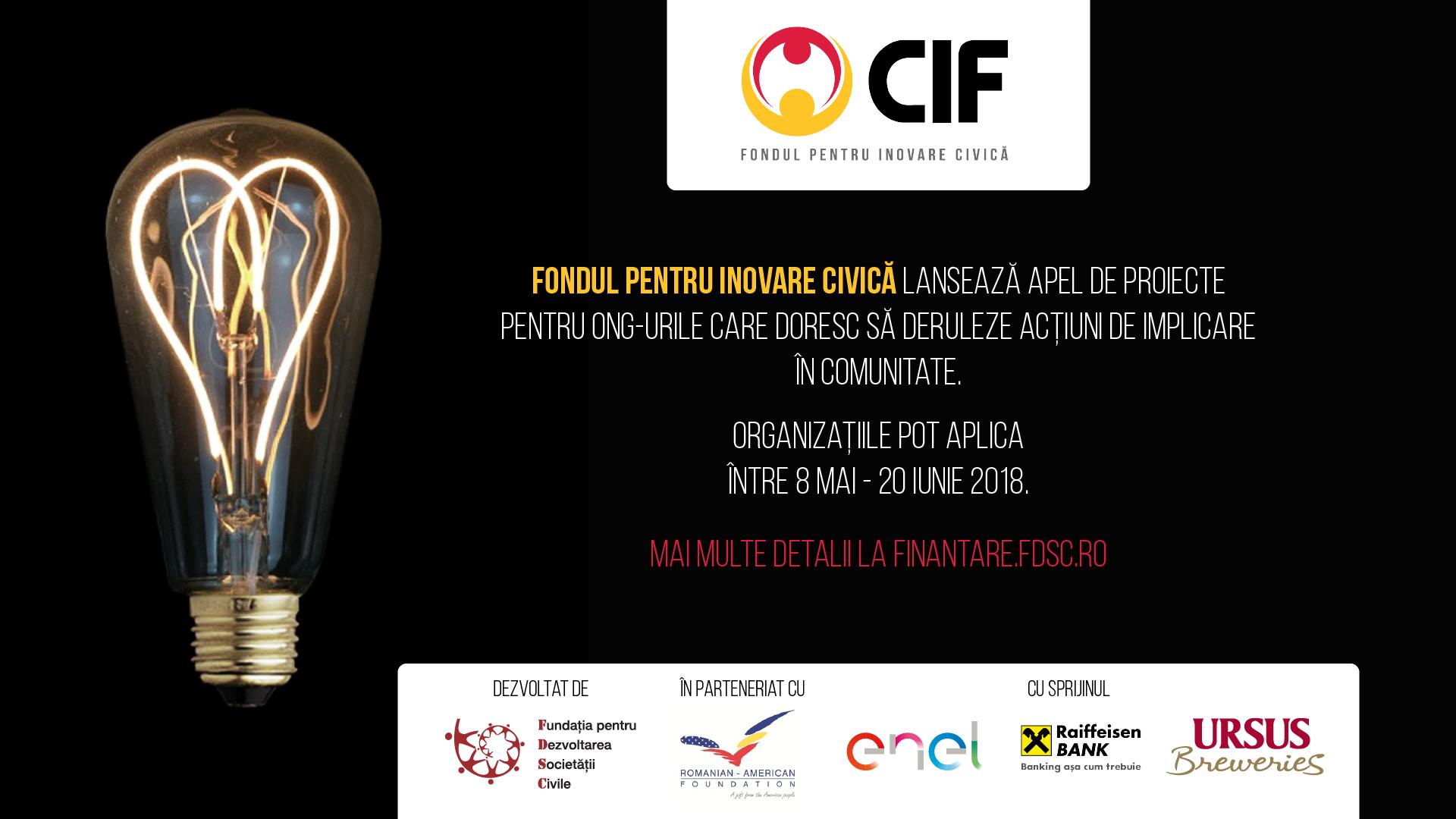 CIF: Finanțare pentru ONG-uri care doresc să deruleze acțiuni de implicare în comunitate