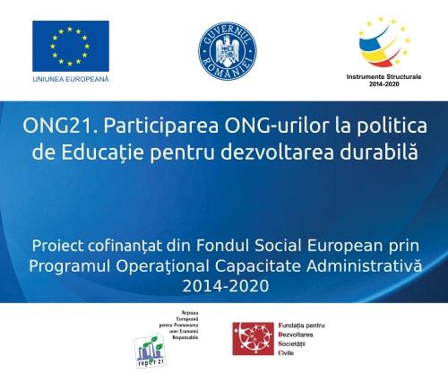 ONG21 - Participarea ONG-urilor la politica de educație pentru dezvoltare durabilă