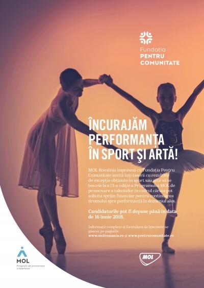 FinanÈ›are de 560.000 lei prin  Programul MOL de promovare a talentelor