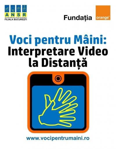 """""""Voci pentru mâini�, aplicația de initerpretare mimico-gestuală"""