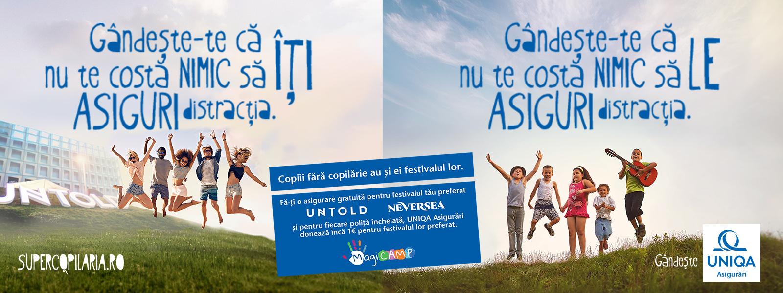 1 euro către MagiCAMP pentru fiecare poliță UNIQA încheiată la Untold și Neversea