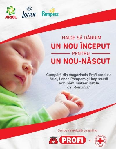 128 de pătuțuri noi și 10.450 de lenjerii de pat donate maternităților din România