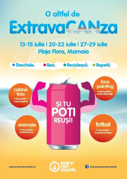ExtravaCANza - invitaţie la reciclarea dozelor din aluminiu
