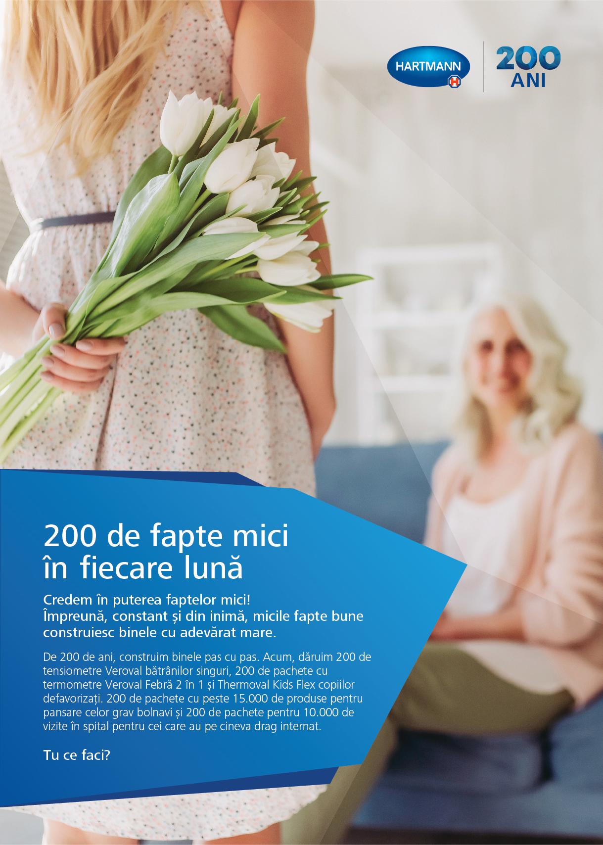 """Campania """"200 de fapte mici în fiecare lună""""  vine în sprijinul celor aflați în situații vulnerabile"""