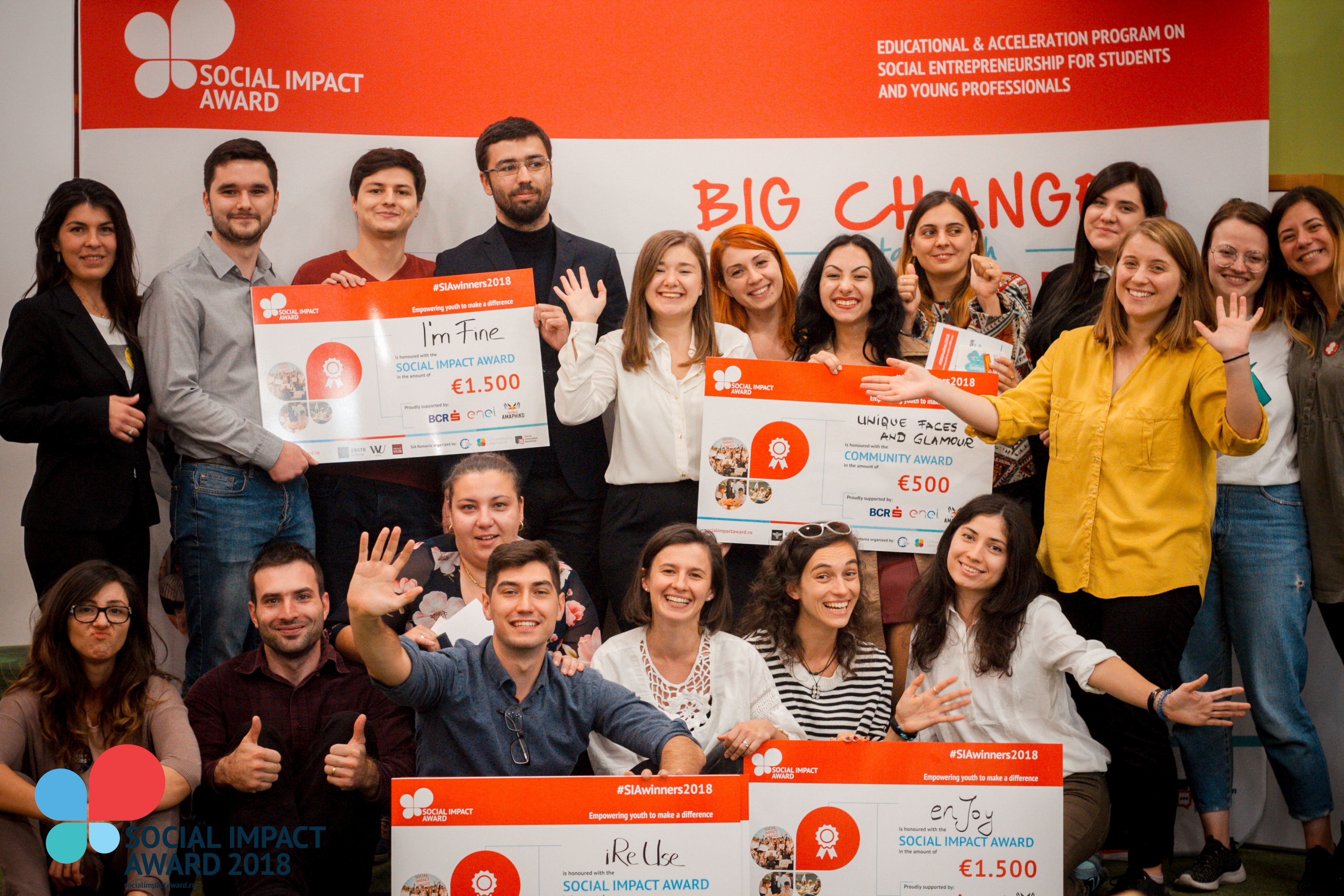 I'm Fine, enJOY & iReUse, câștigătorii Social Impact Award România 2018!