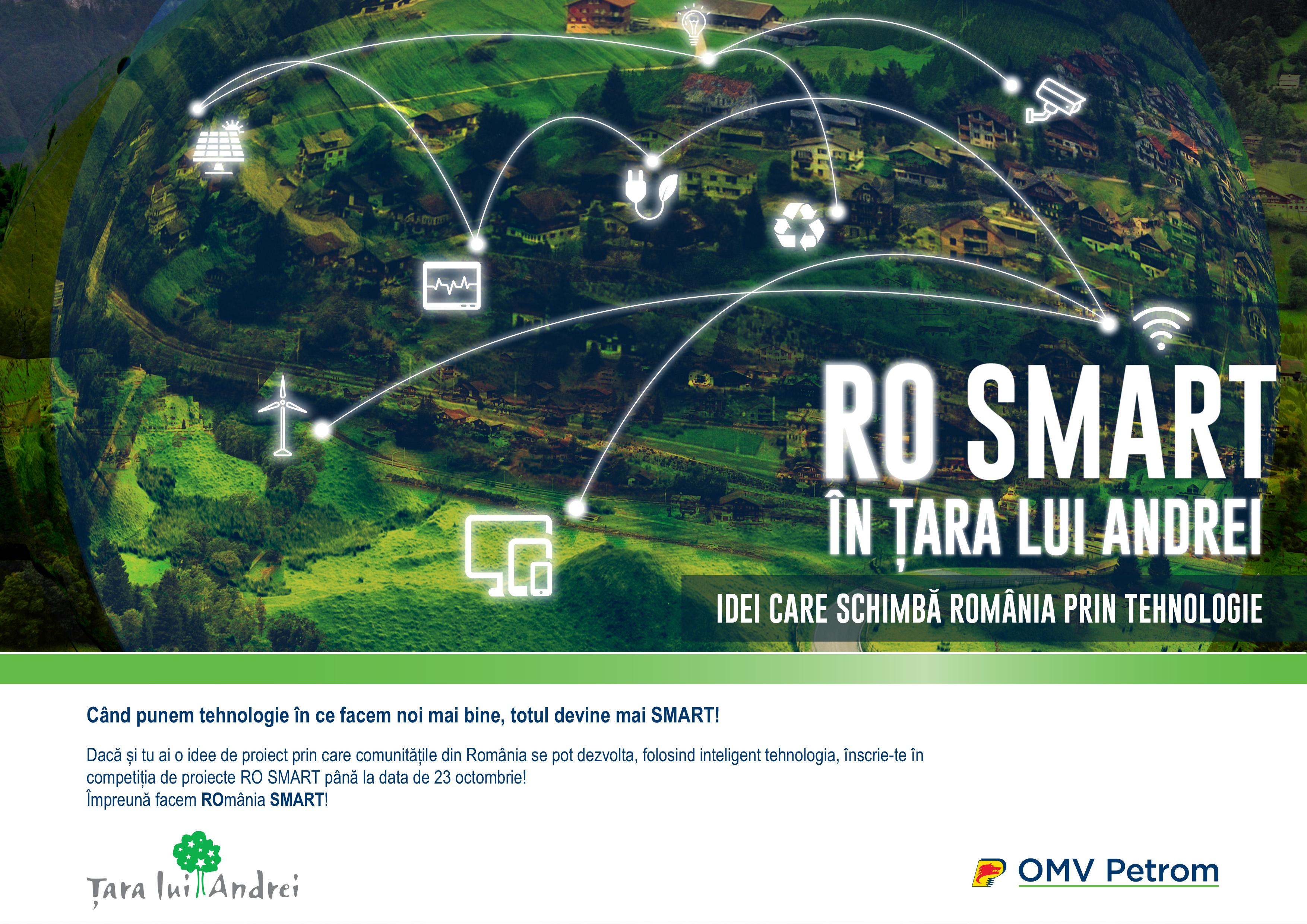 Până pe 23 octombrie mai poți înscrie proiecte de tip SMART CITY în competiția națională RO SMART