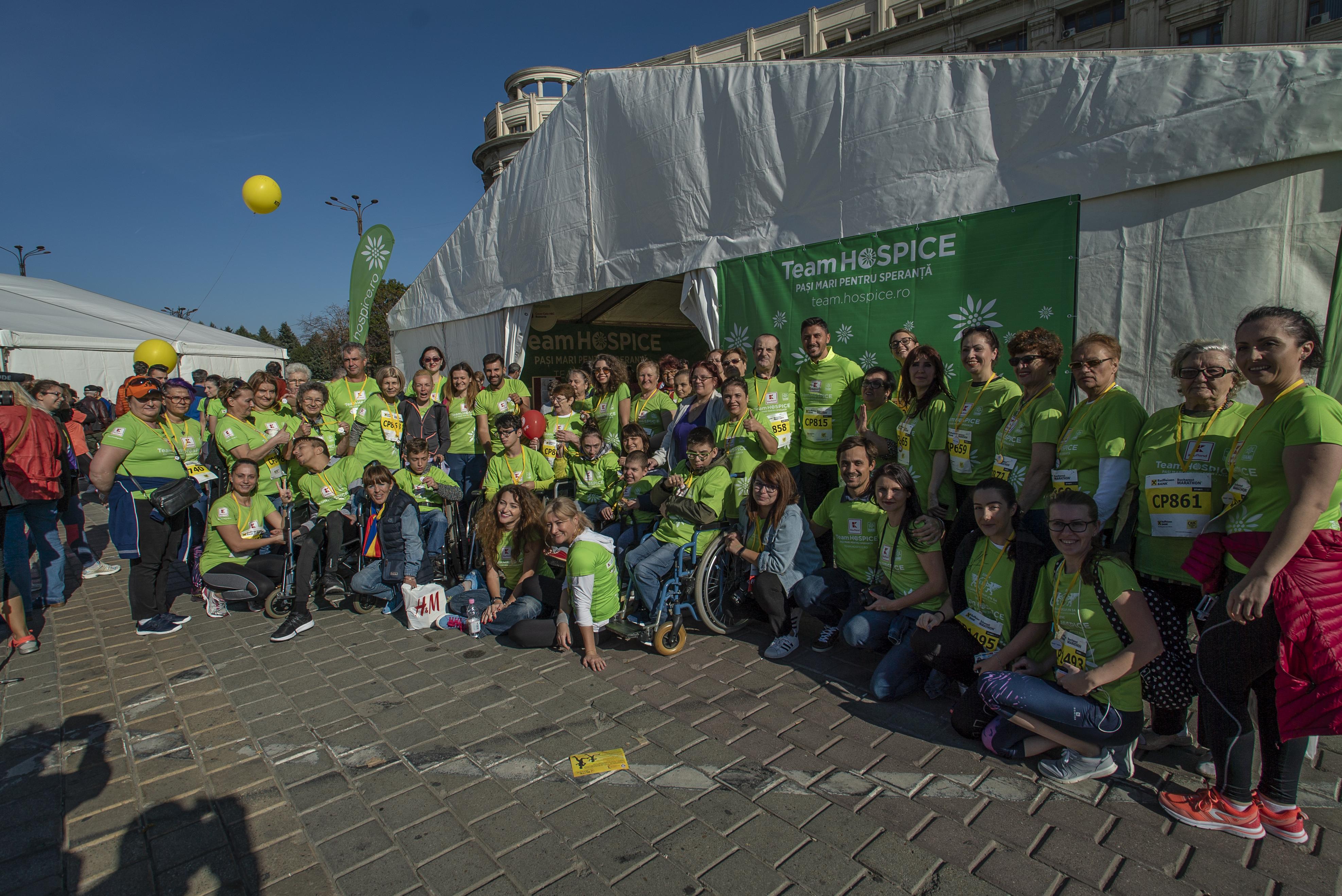 Maraton de solidaritate: Team HOSPICE a strâns 400.000 lei la Maratonul București
