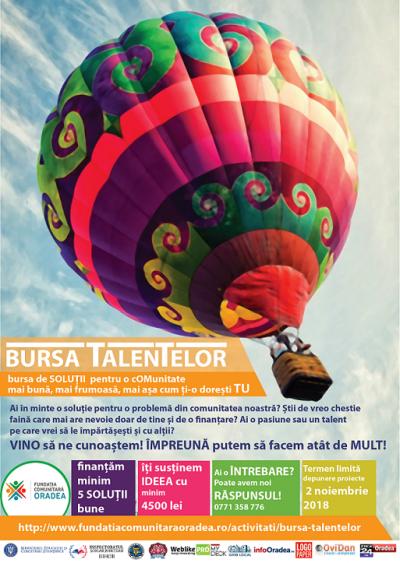 O nouă ediție Bursa Talentelor la Oradea