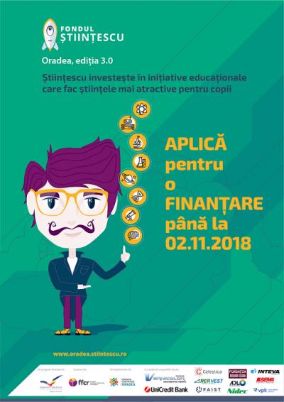 A treia ediție a programului Fondul Științescu Oradea
