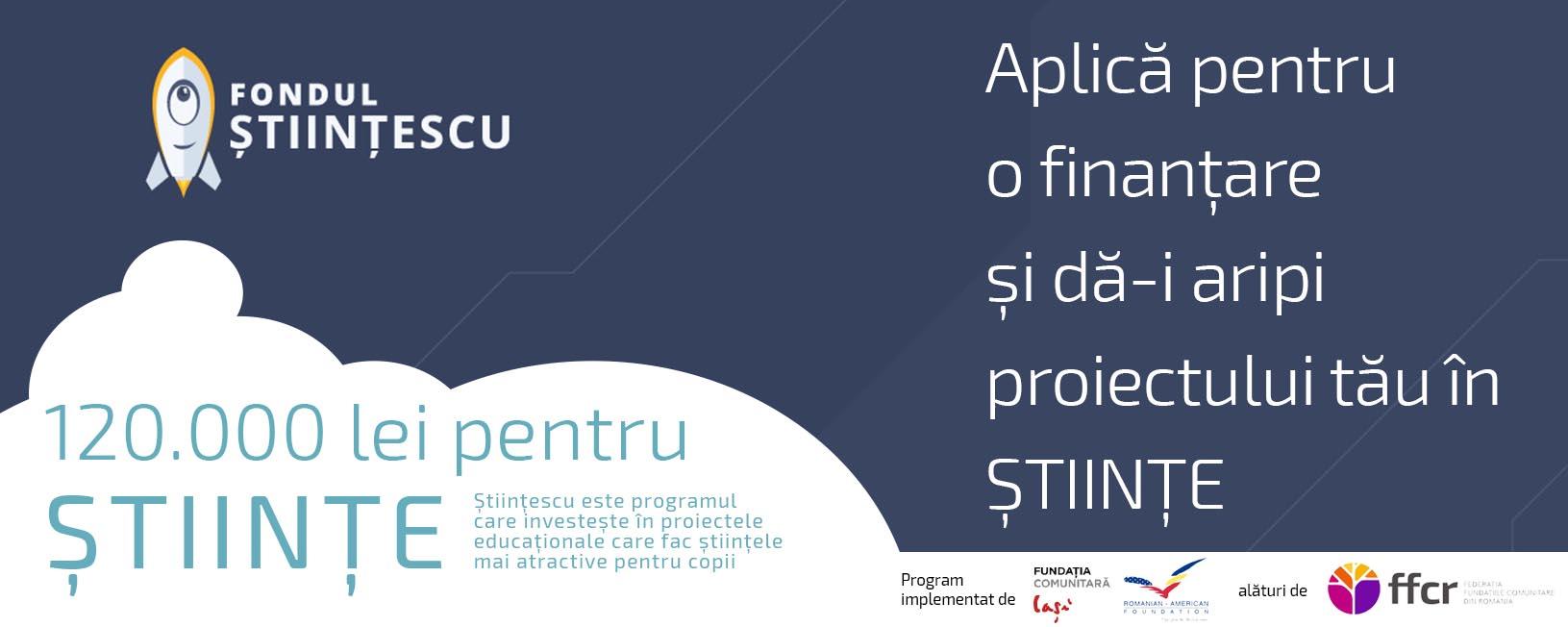 120.000 lei pentru științele exacte de la Fundația Comunitară Iași