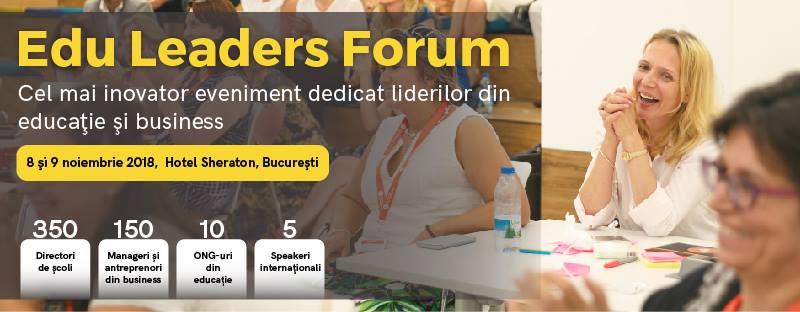 Edu Leaders Forum, evenimentul care instruieÈ™te 250 directori pentru È™coala viitorului