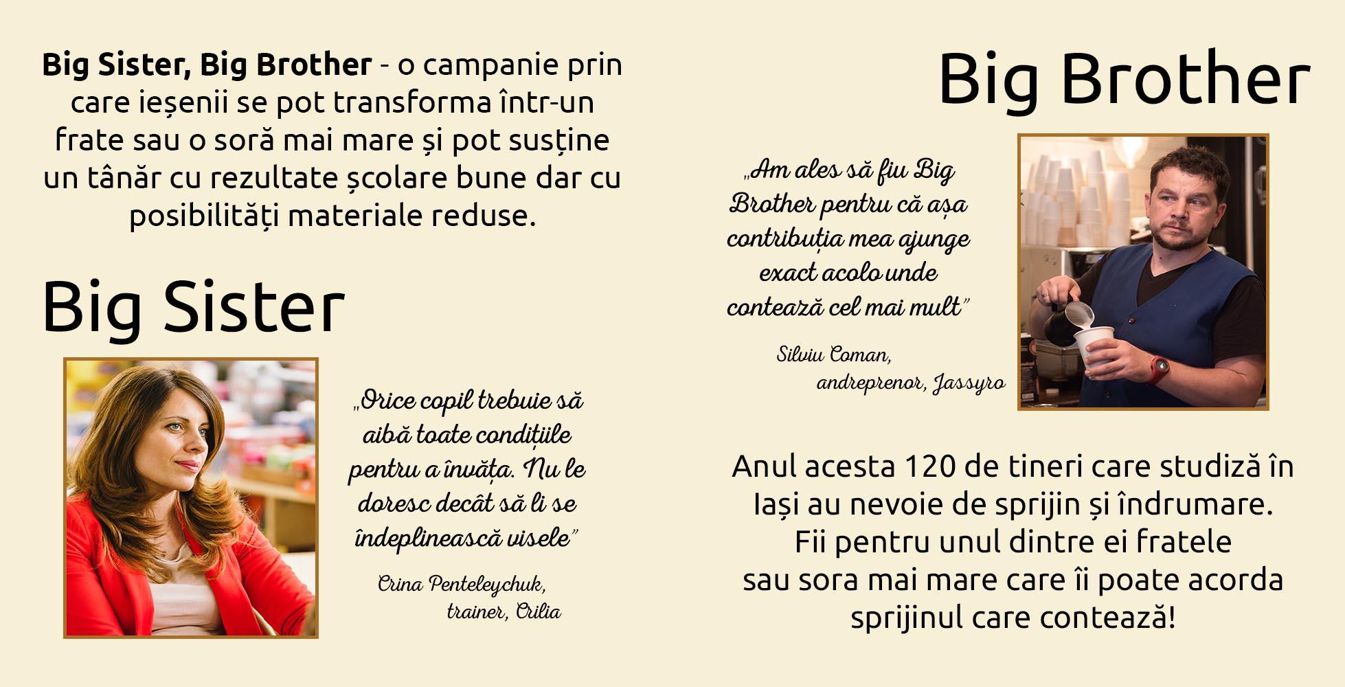 Big Sister, Big Brother -  O campanie derulată de Fundația Comunitară Iași