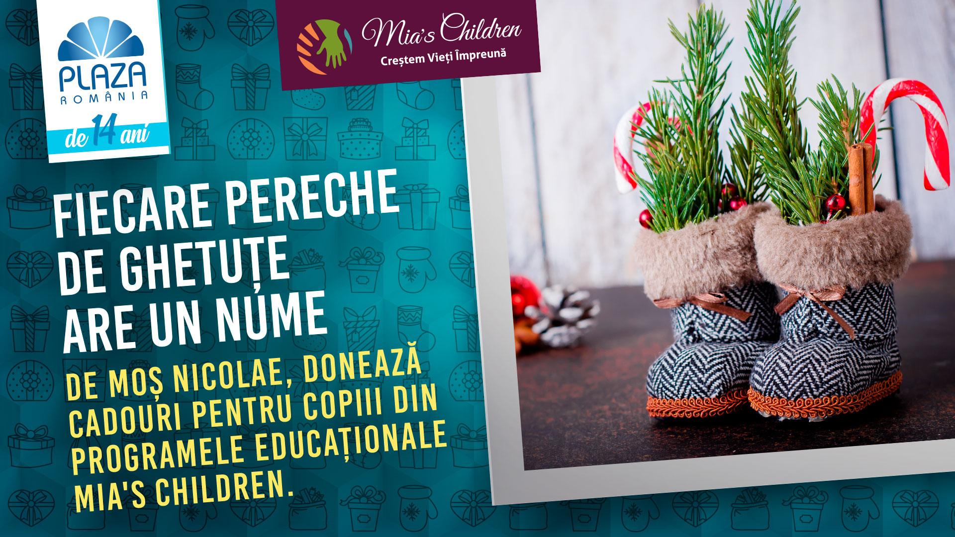La Plaza România, ghetuțele copiilor din familii defavorizate sunt gata să primească cadouri de Moș Nicolae
