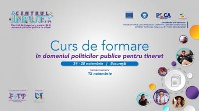 Oportunitate pentru organizații și instituții - Curs de formare în domeniul politicilor publice pentru tineret