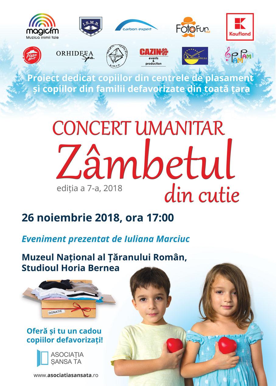 """Campania umanitară """"Zâmbetul din cutie"""" 2018, susţinută de Iuliana Marciuc"""