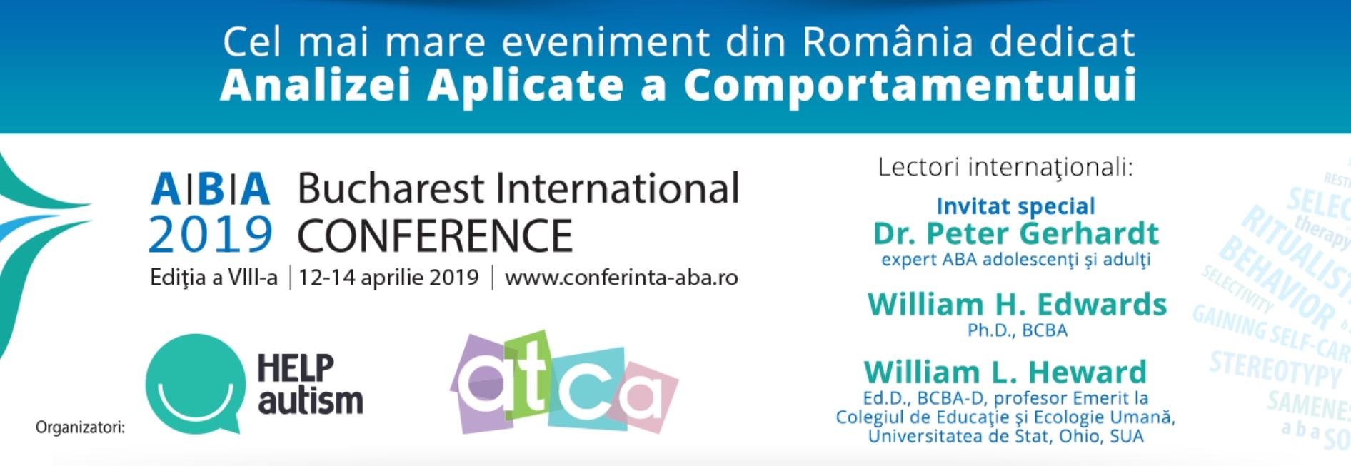 Înscrieri deschise pentru cea de a VIII-a ediție a Conferinței Internaționale ABA – 12-14 aprilie, la București