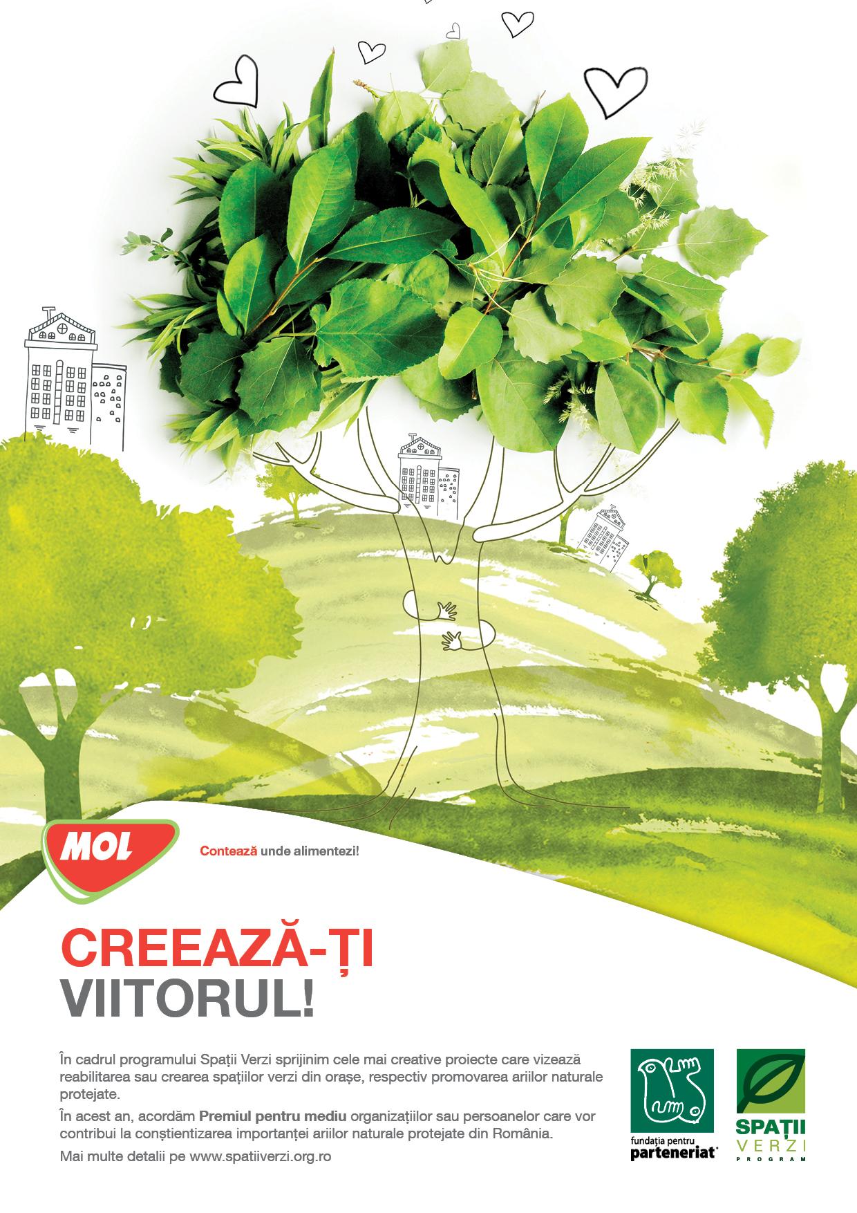MOL România și Fundația pentru Parteneriat oferă finanțări de aproape 700.000 de lei în cadrul celei de-a 14-a ediții a programului Spații Verzi