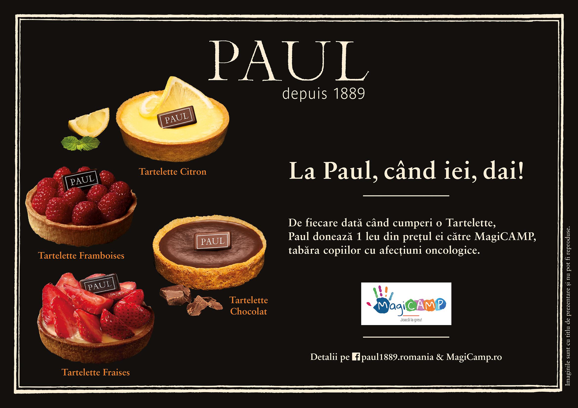 Brutăriile PAUL, alături de clienții săi, sprijină MagiCAMP cu peste 71.000 Lei