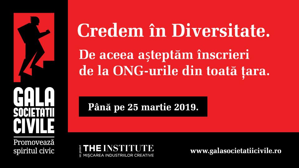 Luni, 25 martie - termenul limită pentru proiectele Galei Societății Civile 2019