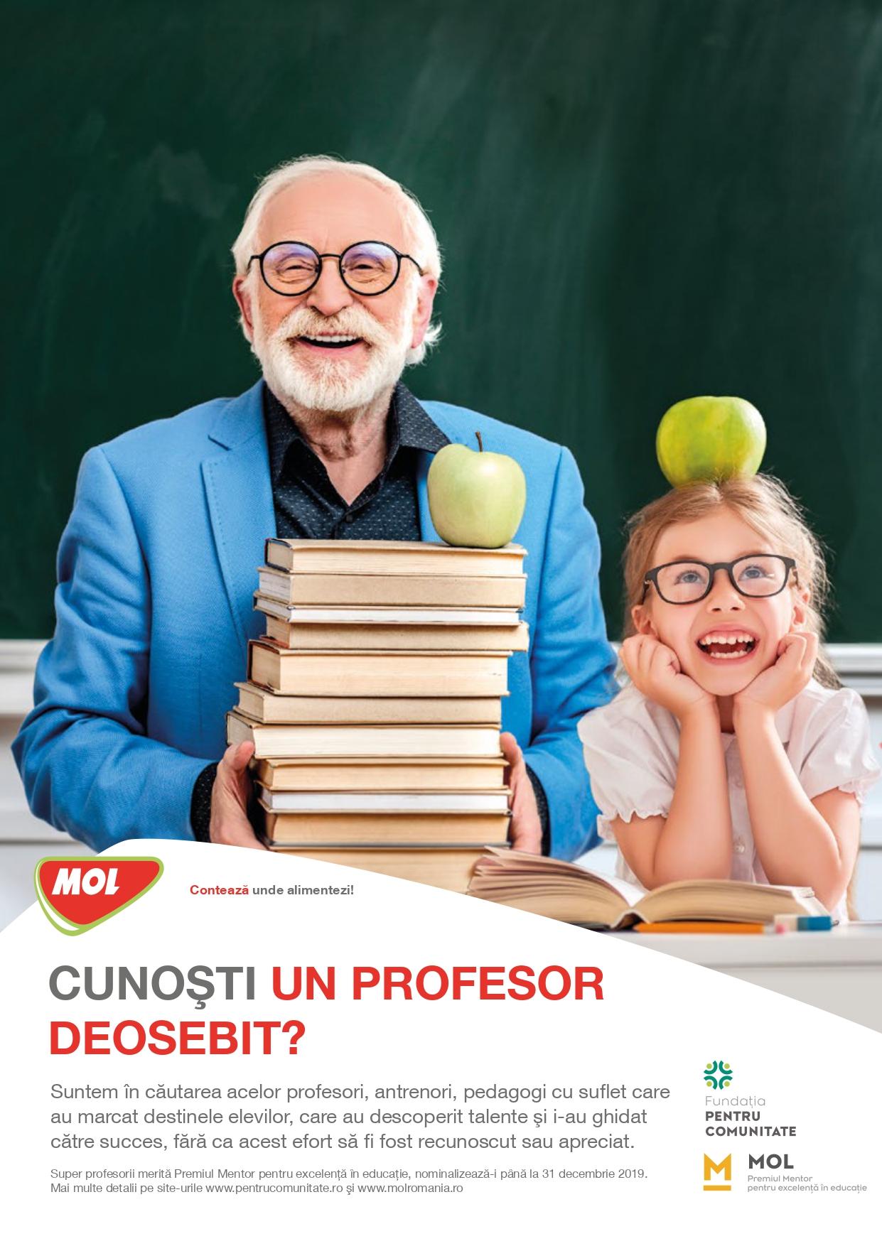 A zecea ediție a Premiilor Mentor pentru excelență în educație