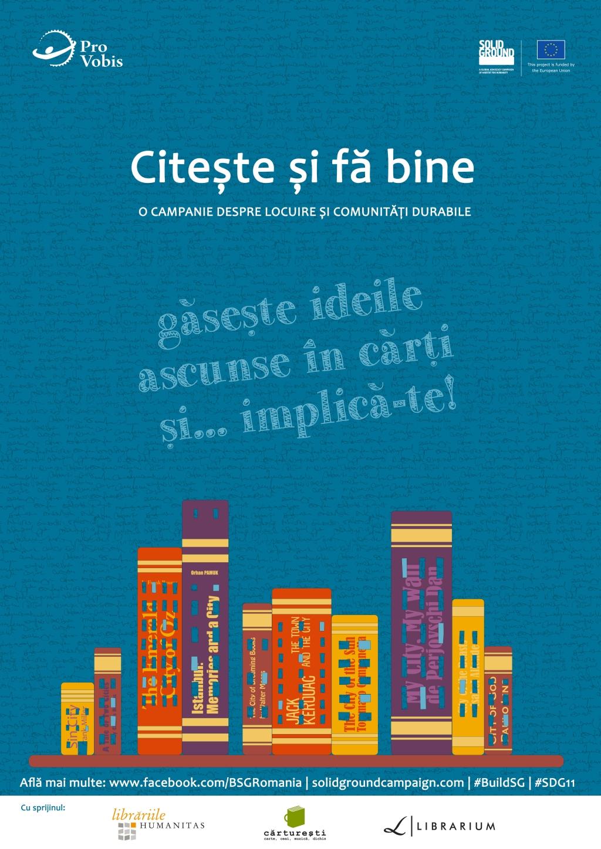 """""""Citește și fă bine"""" este o campanie despre locuire și comunități durabile"""