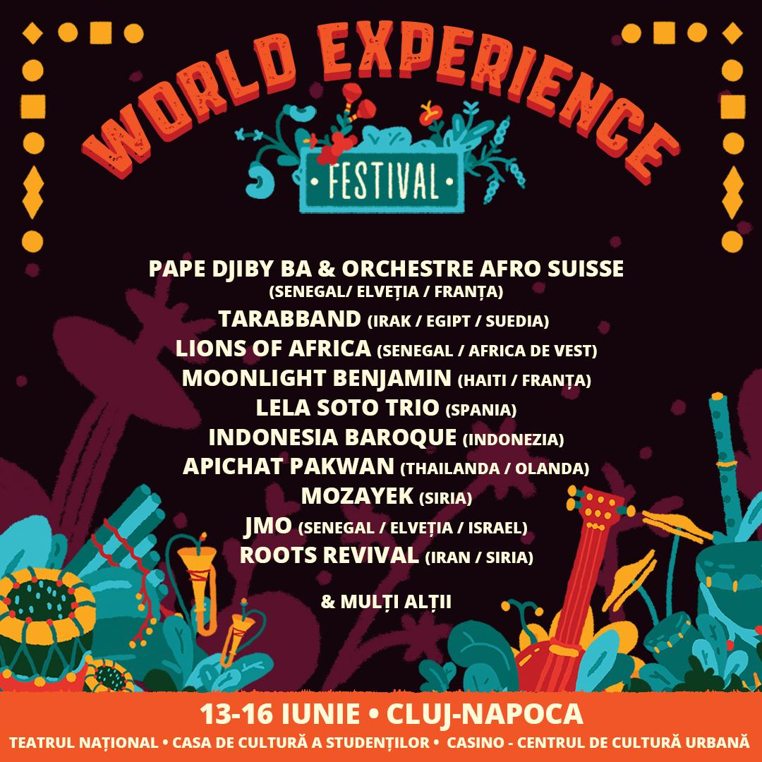 WORLD EXPERIENCE FESTIVAL, un spectacol unic al muzicii È™i sunetelor lumii