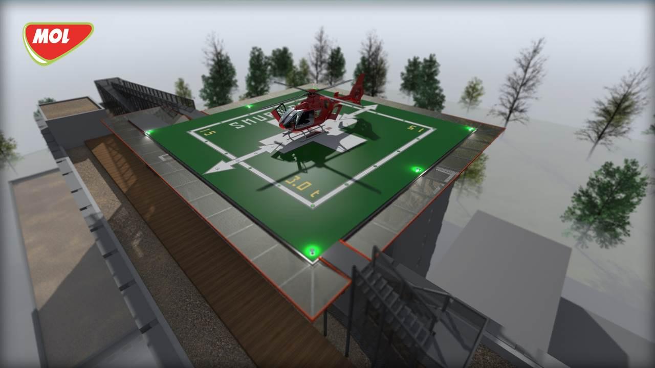 """MOL România și Asociația Inima Copiilor construiesc un heliport pe acoperișul Spitalului Clinic de Urgență pentru Copii """"M. S. Curie�"""