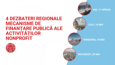 CLNR organizează 4 dezbateri regionale pe tema mecanismelor de finanțare publică pentru activități nonprofit