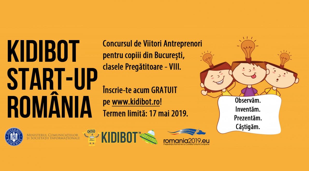 Se lansează concursul Kidibot Start-Up România